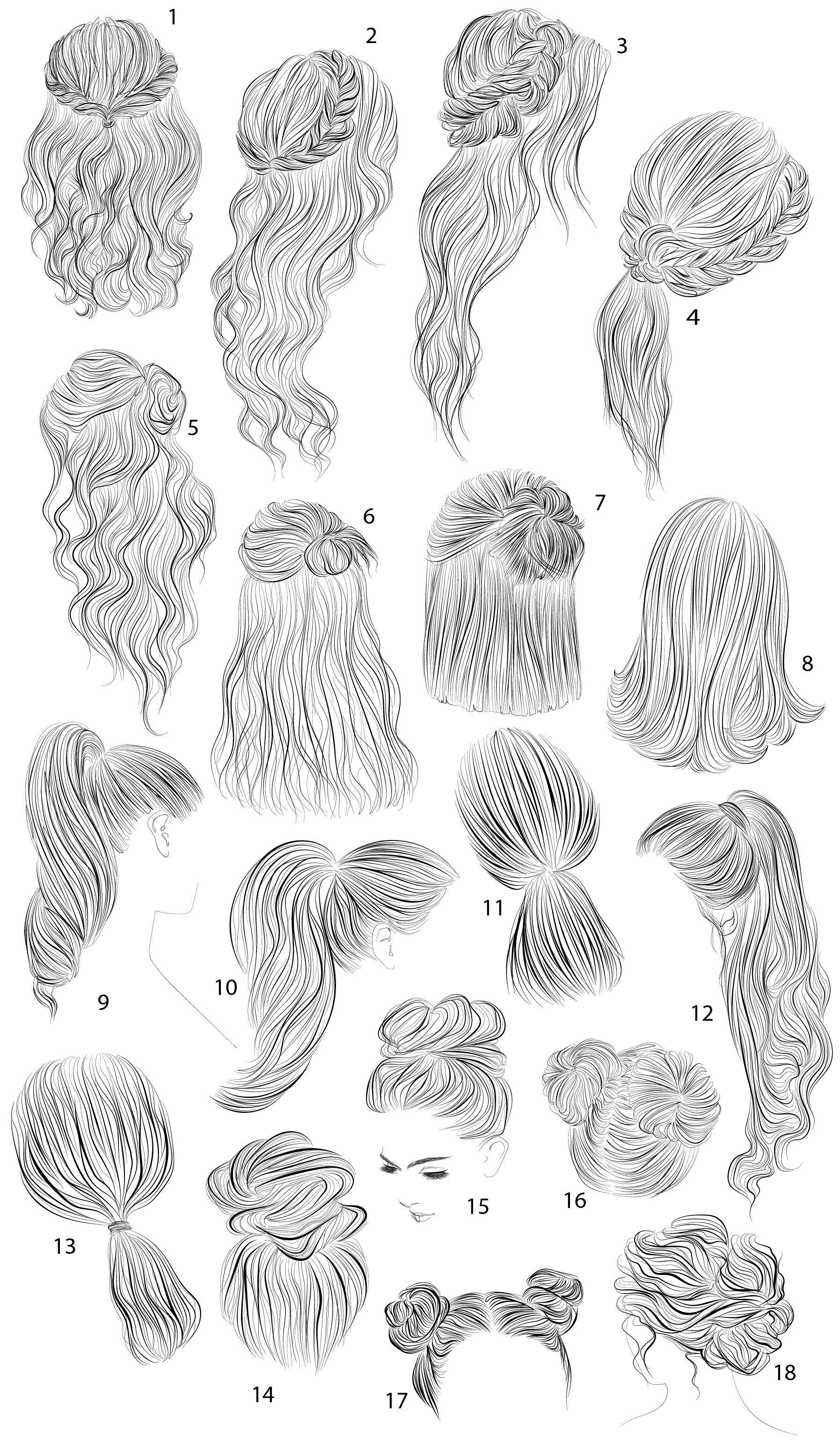 Photo of 18 vector female hairstyles by colorshop on Creative Market,  #colorshop #Creative #different…