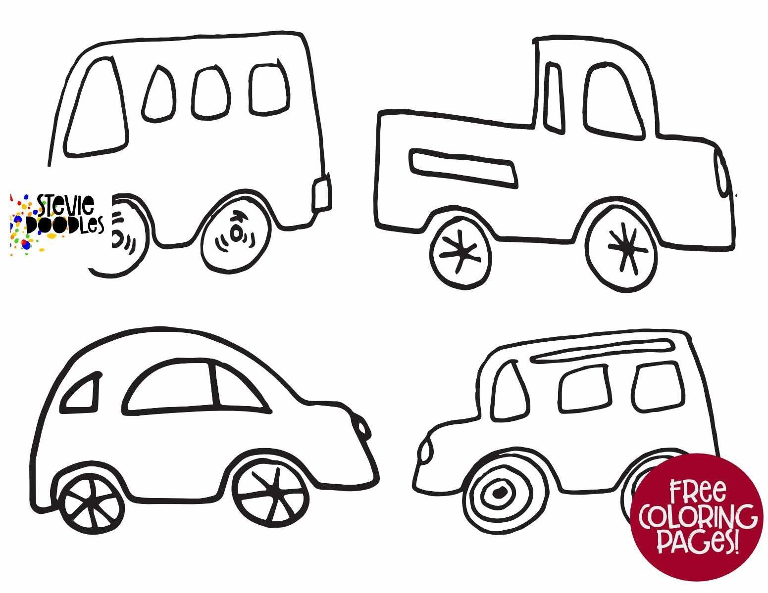 4 Little Cars Free Printable Coloring Page 5 Stevie Doodles Free Printable Coloring Pages Coloring Pages Printable Coloring Pages