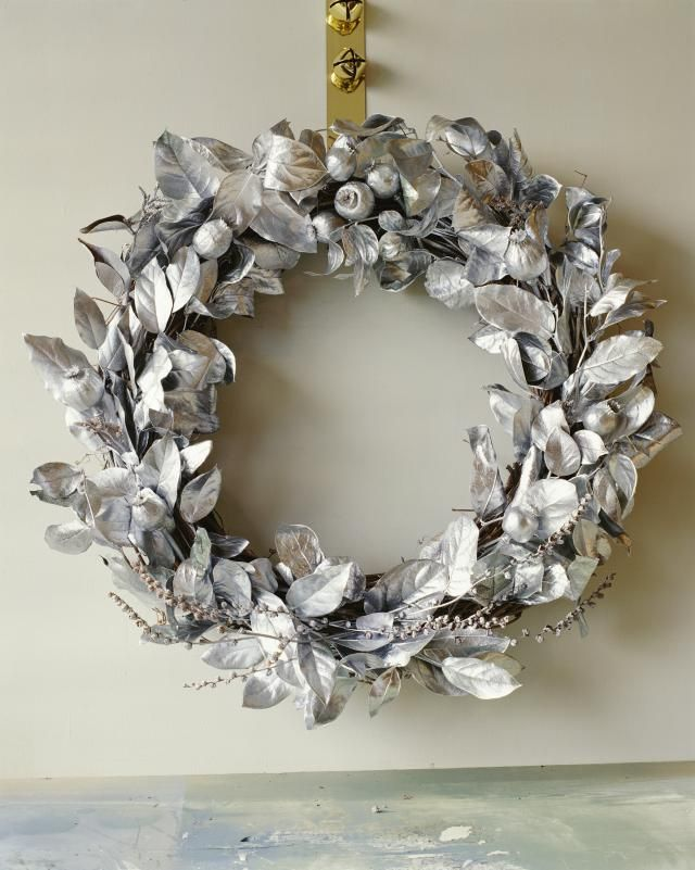 Looking for a Holiday Wreath? Consider One of These 10 Beauties!: Silver Wreath