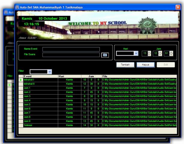 Aplikasi Bel Sekolah Otomatis Full Version Dengan Ringtone Mp3 Gratis Bisa Para Guru Download Untuk Digunakan Di Sekolahnya Masing M Bel Microsoft Excel Klaten