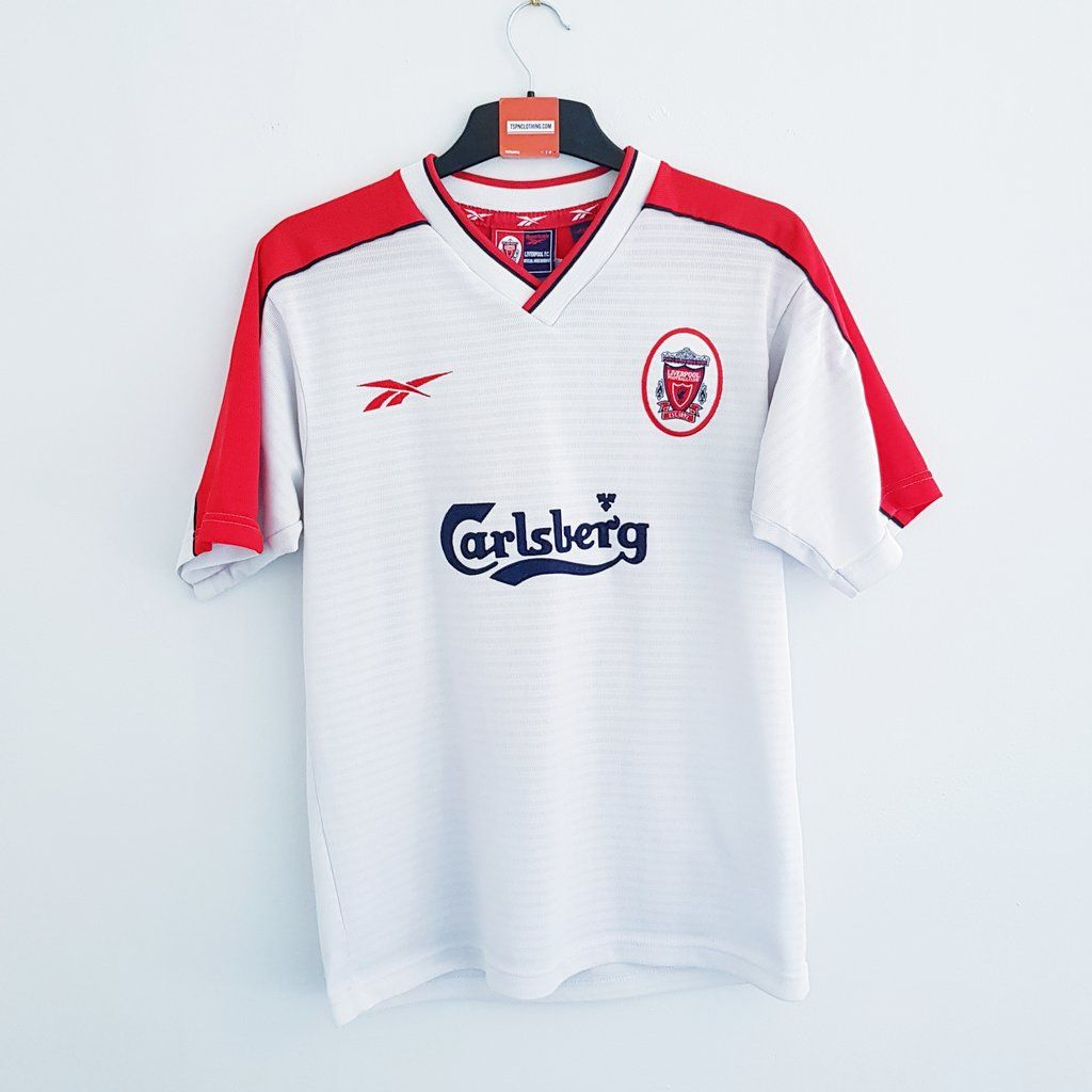 buy online c3ce7 f9a9f Liverpool white away football shirt 1998-2000 | TSPN ...