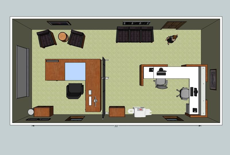 Office design layout plan space for Office room layout