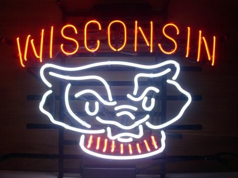 Wisconsin Badgers Neon Sign Signs Light