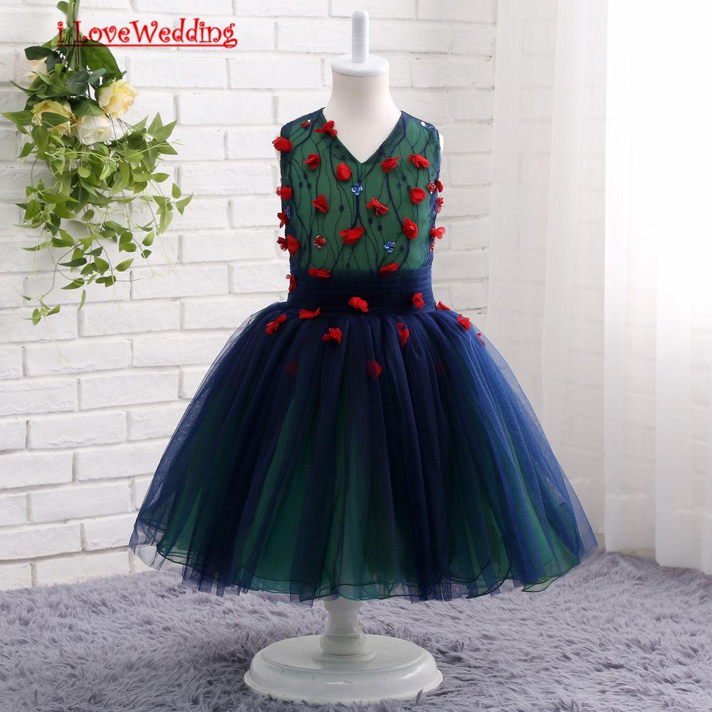 Ilovewedding stock new tulle flower girl dresses for wedding pageant