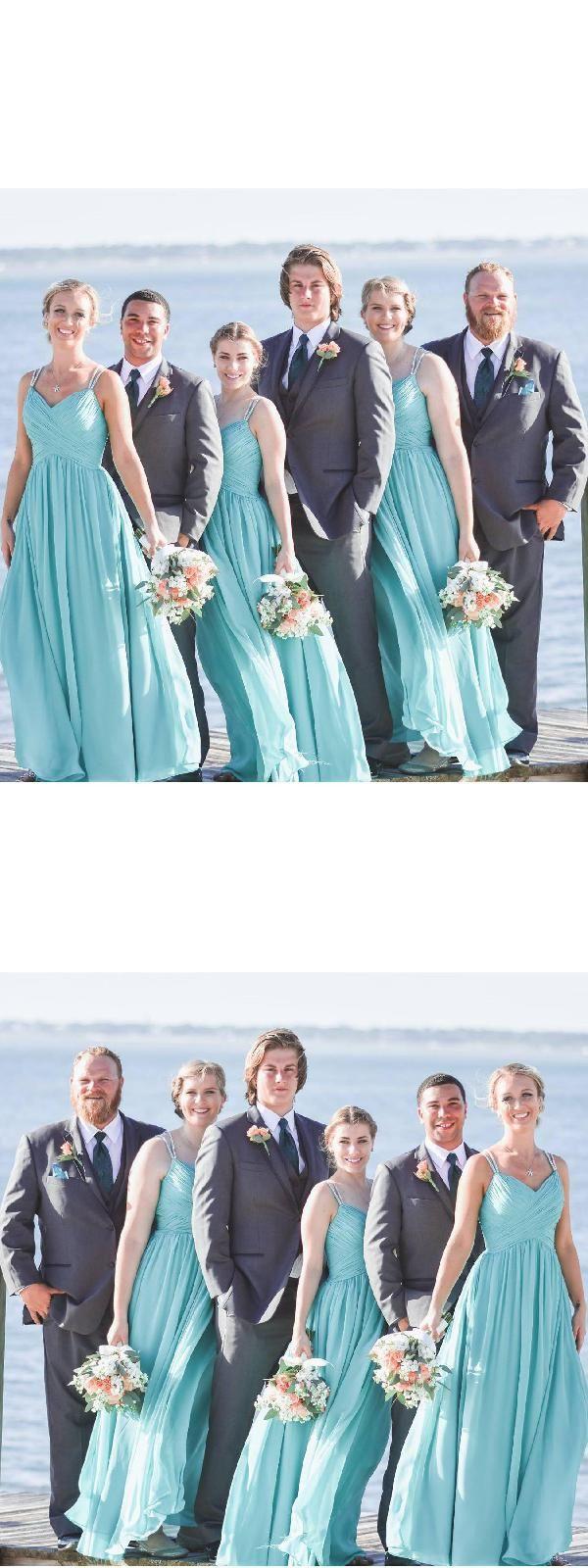 Cheap wedding dress chiffon bridesmaid dress blue wedding dress