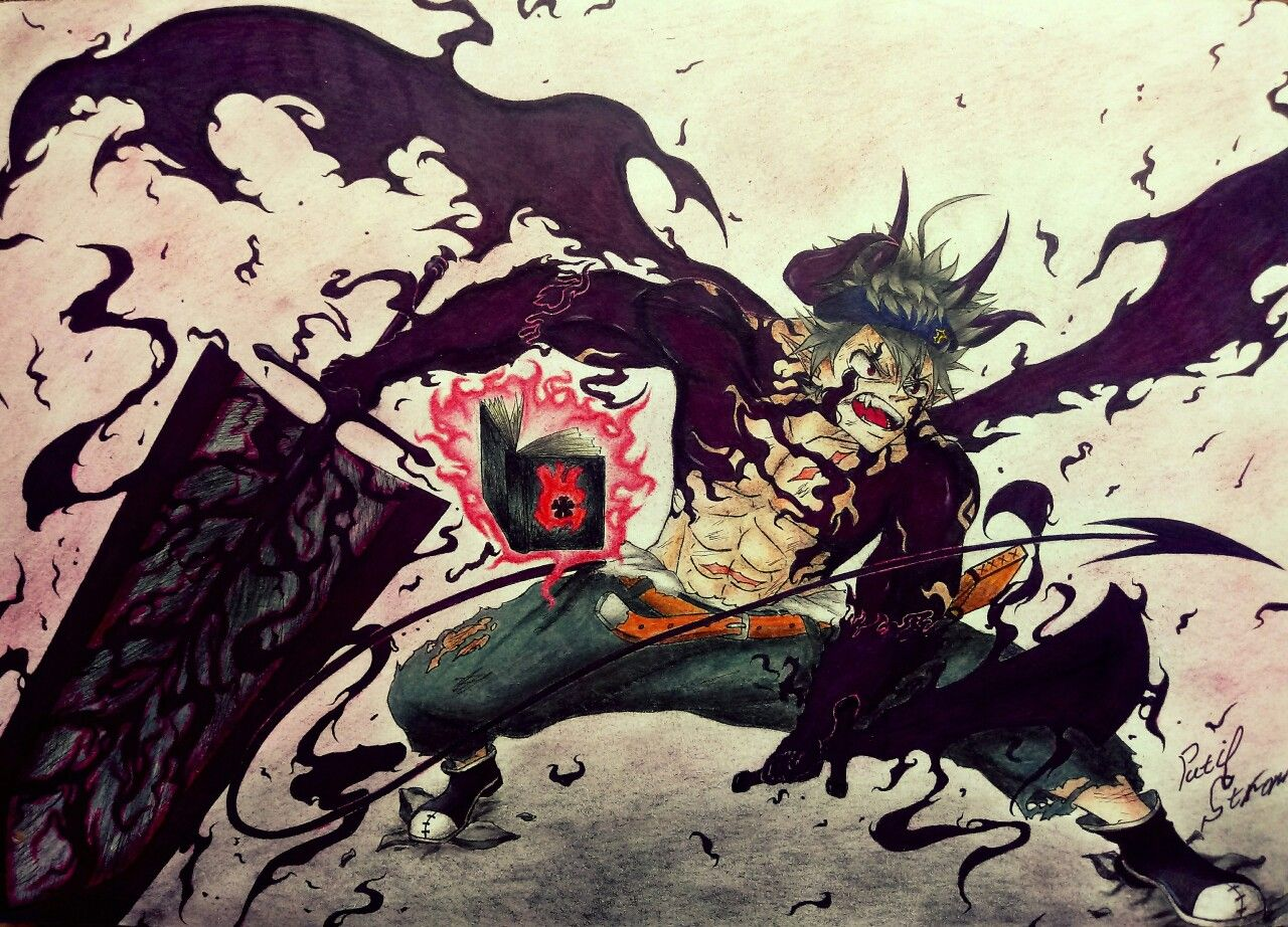 Asta Demon Form Black Clover Art By U Pati Stron Reddit In