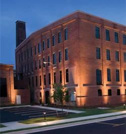 This commercial lighting plan increased safety around this building. Path lights were installed along the sidewalks and up lighting on the building made it ...  sc 1 st  Pinterest & This commercial lighting plan increased safety around this building ...