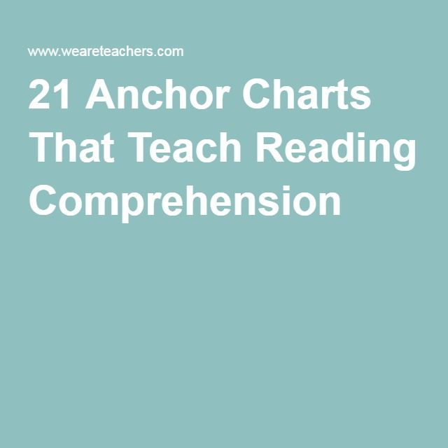21 Anchor Charts That Teach Reading Comprehension