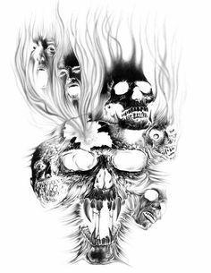 evil skull tattoo designs wednesday april 13 2011 rh pinterest ca Tribal Skull Tattoo Designs free evil skull tattoo designs