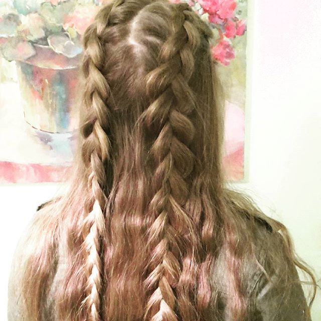 Half Up Double Dutch Braids Thebraidedsisters Hair Braids Dutchbraids Ehsfishtaildutchcontest Braided Hairstyles Easy Hairstyles Hair Styles