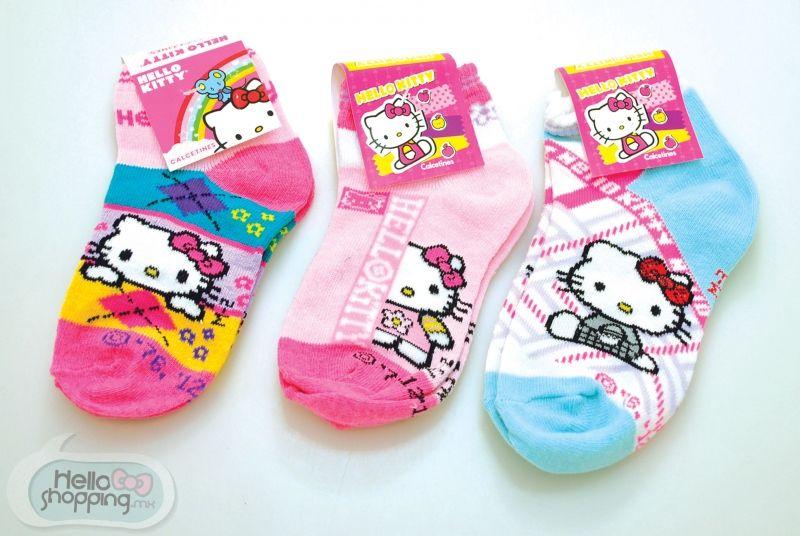 Hello Kitty 3 calcetas niña 4-6 años. $22.00