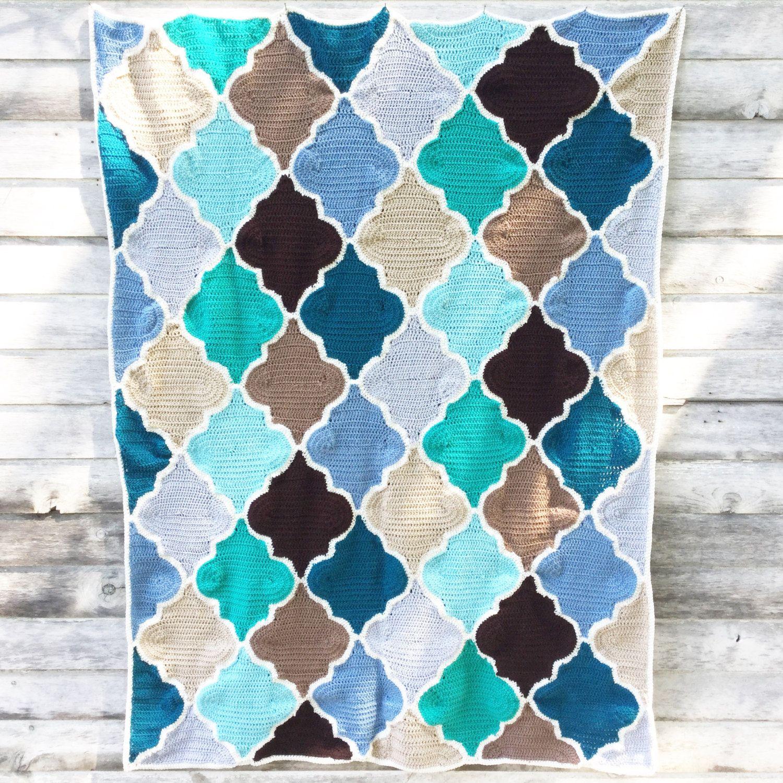 Moroccan Trellis Crochet Pattern Picture Por NobleCharacterCrafts
