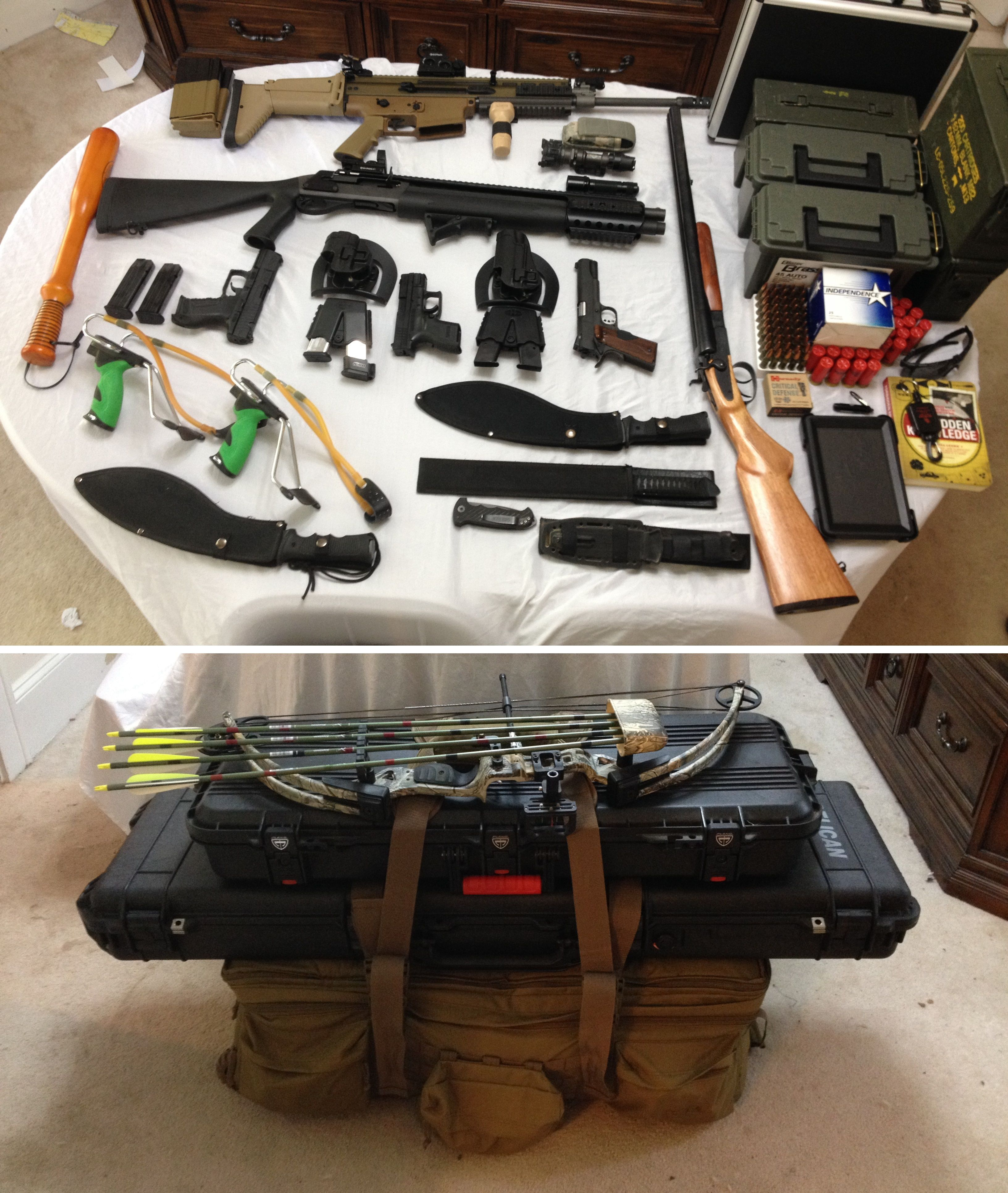Bug Out Weapons Bag : My bug out gear setup packed and unpacked everything from
