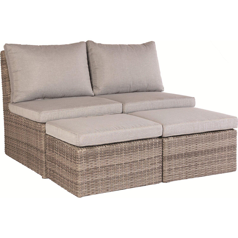 Lounge Set Zalma 3 Teilig Aus Polyrattan Sand Kaufen Bei Obi Mobel Fur Kleinen Balkon Garten Lounge Lounge Gartenmobel