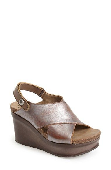 052f9054781 OTBT+ Blue+Hill +Wedge+Sandal+(Women)+available+at+ Nordstrom  wpn maybe  this is a more practical metallic