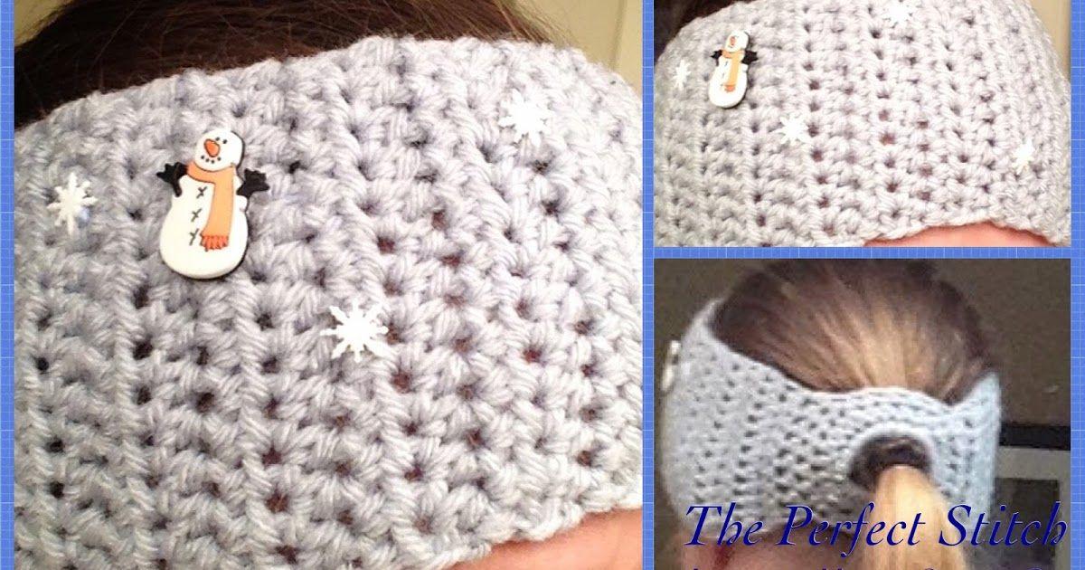 Snowflake Ponytail Headband/Ear Warmer | Crochet | Pinterest