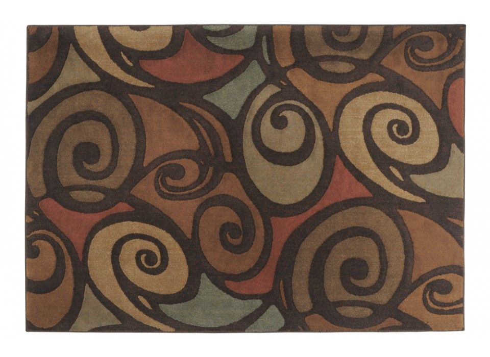 Capri Swirls Rug 53 x 77 Area Rugs Home Accents Bobs
