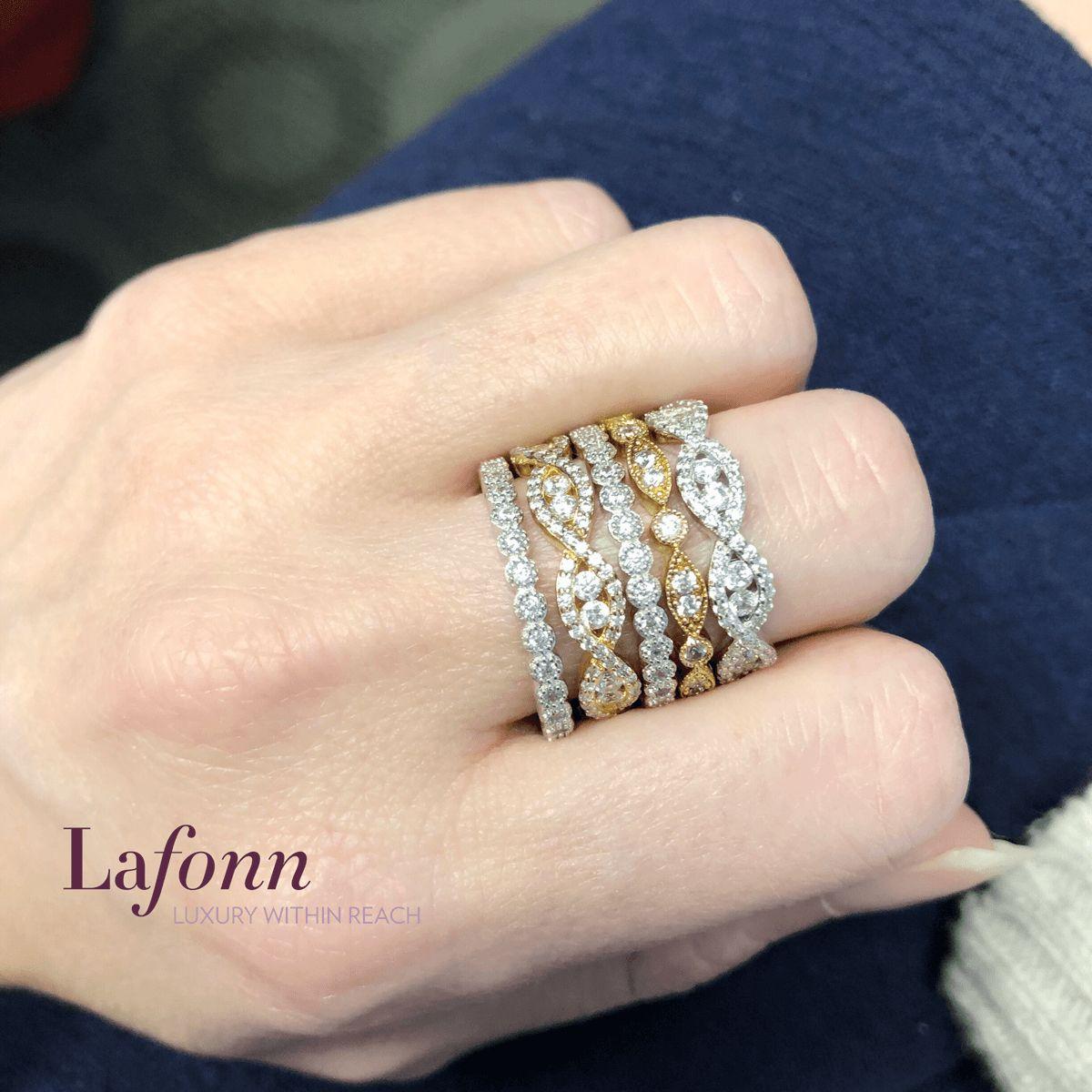 Stack Up The Style With Lafonn Simulated Diamond Rings From 110 Glatzjewelers Lafonn Lafonnret Gold Wedding Jewelry Jewelry Diamond Engagement Rings