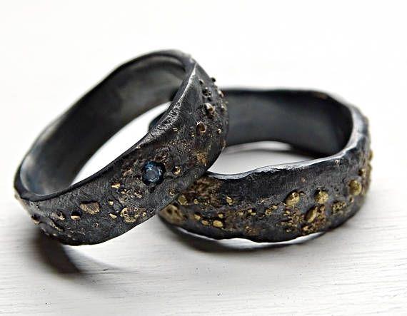 Ensemble De Bague De Mariage Viking Assorti Des Bagues De