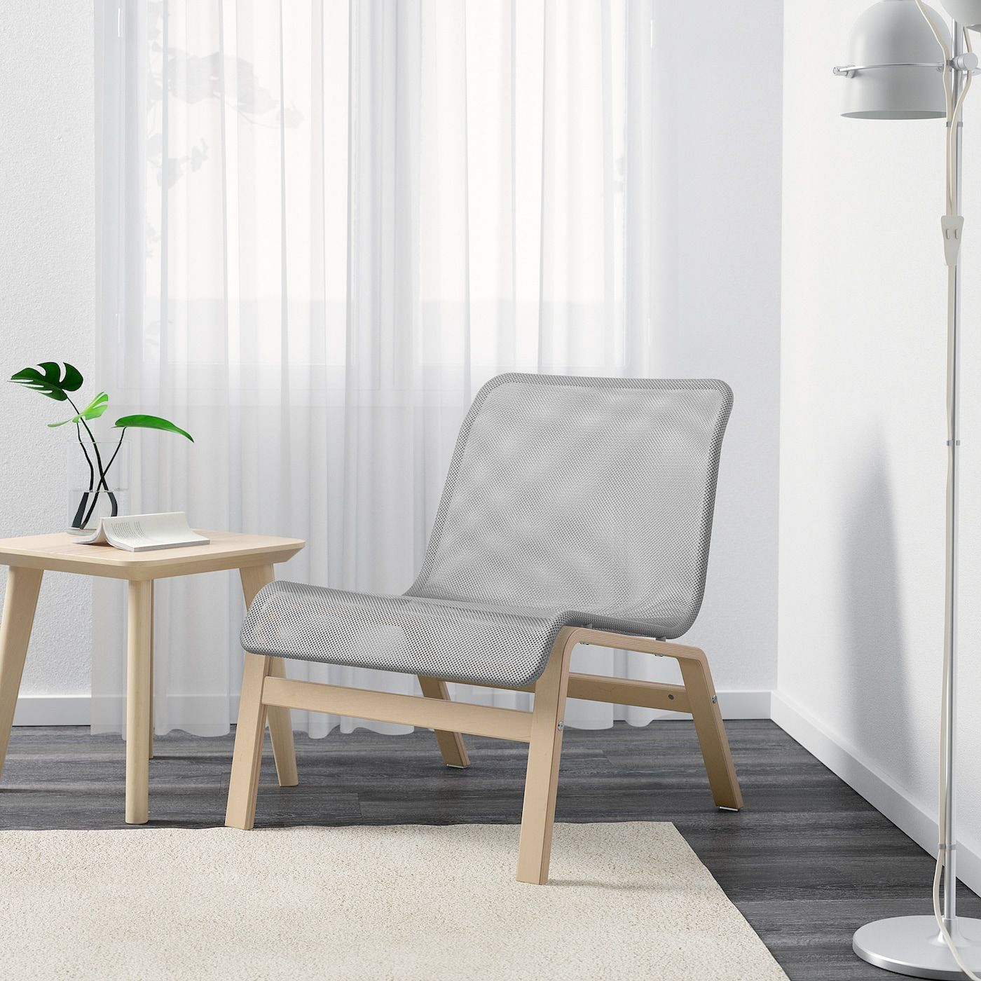NOLMYRA Chair birch veneer, gray IKEA in 2020 Fabric
