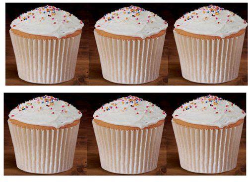 100 White Large Jumbo Texas Muffin Cupcake Cups White 6inch