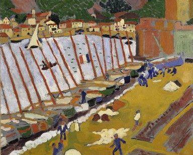 André Derain (1880-1954, France; fauves) | Banlieue de Collioure, 1905 (Centre Pompidou, ou Beaubourg - CNAC)