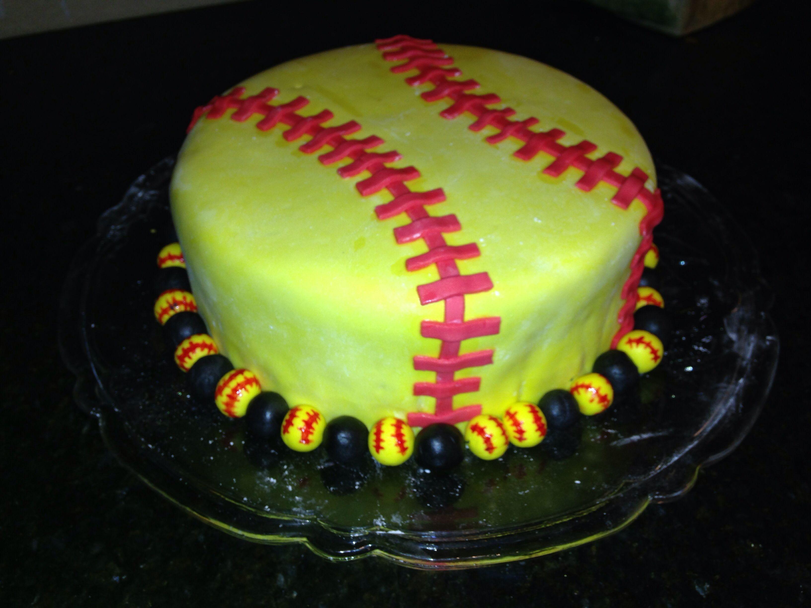 Fabulous Softball Cake Softball Birthday Cakes Birthday Cake Kids Personalised Birthday Cards Paralily Jamesorg