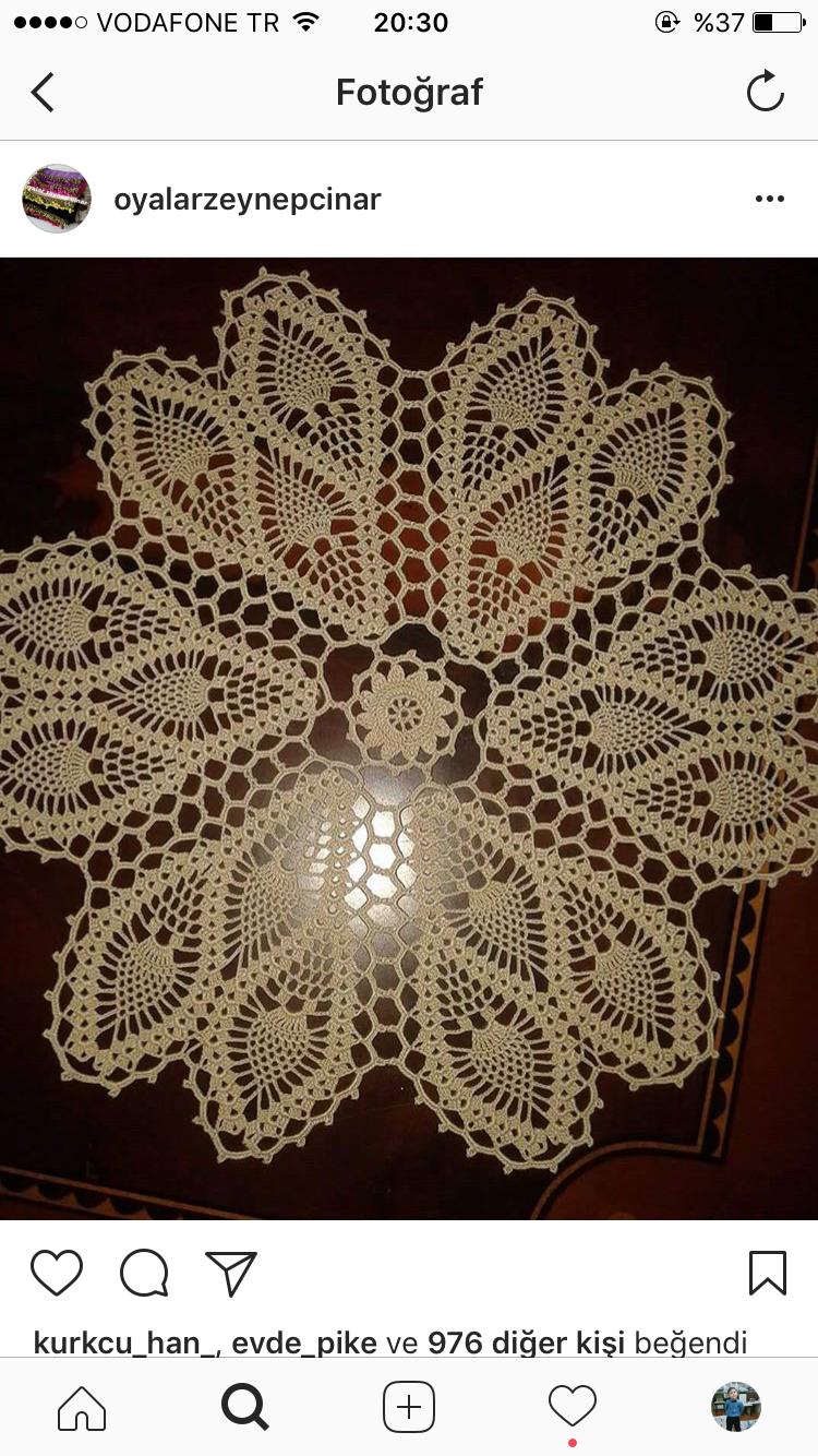Pin by Sedef on Dantel örnekleri | Pinterest | Crochet, Crochet ...