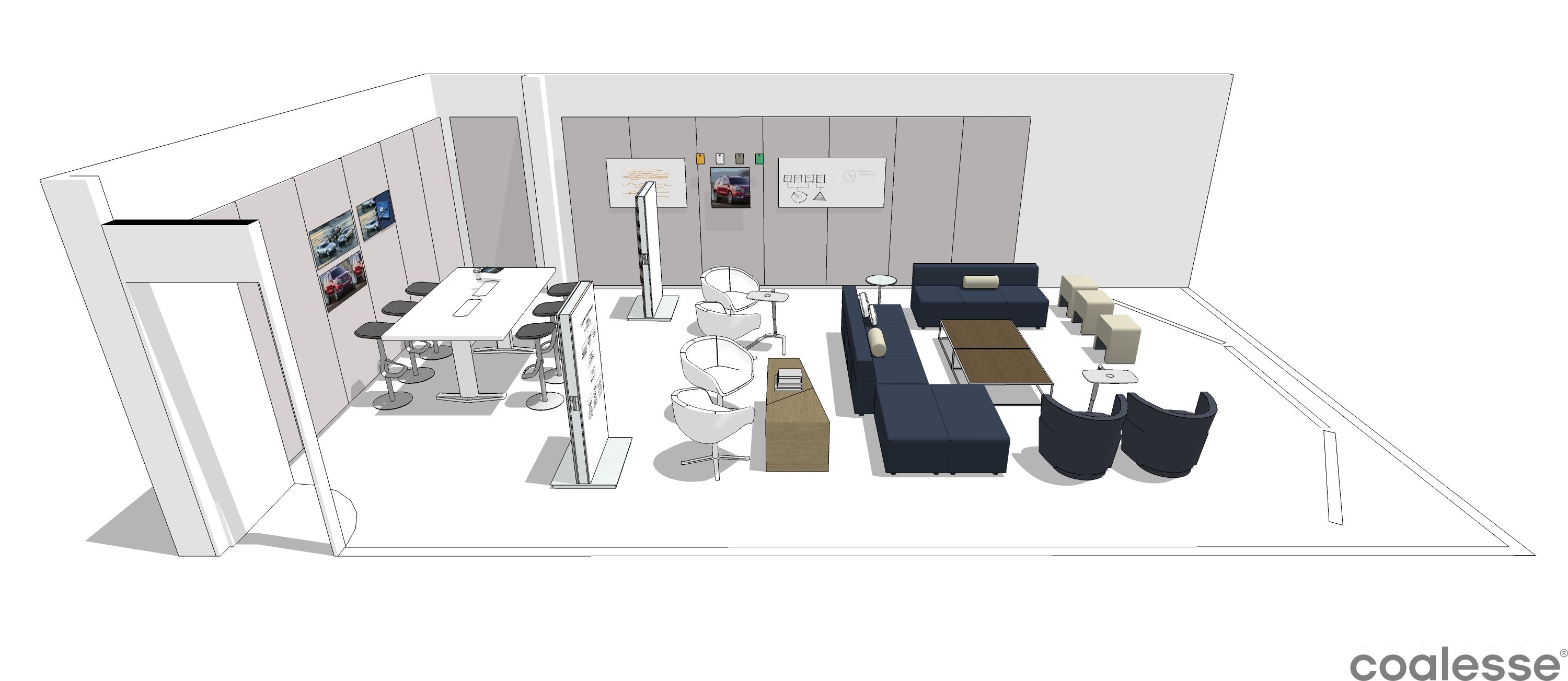 A collaborative project / presentation space for the creative team ...
