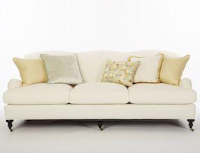 Calicos Russell Sofa in SkySalt Crypton fabric Calico