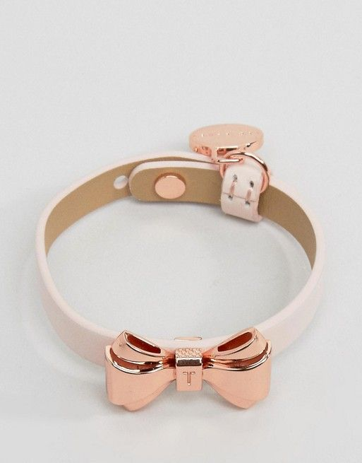 Ted Baker Curved Bow Leather Bracelet #wedwithted