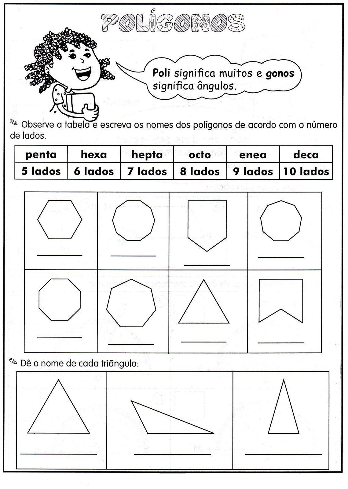 polígonos | matemática | Pinterest