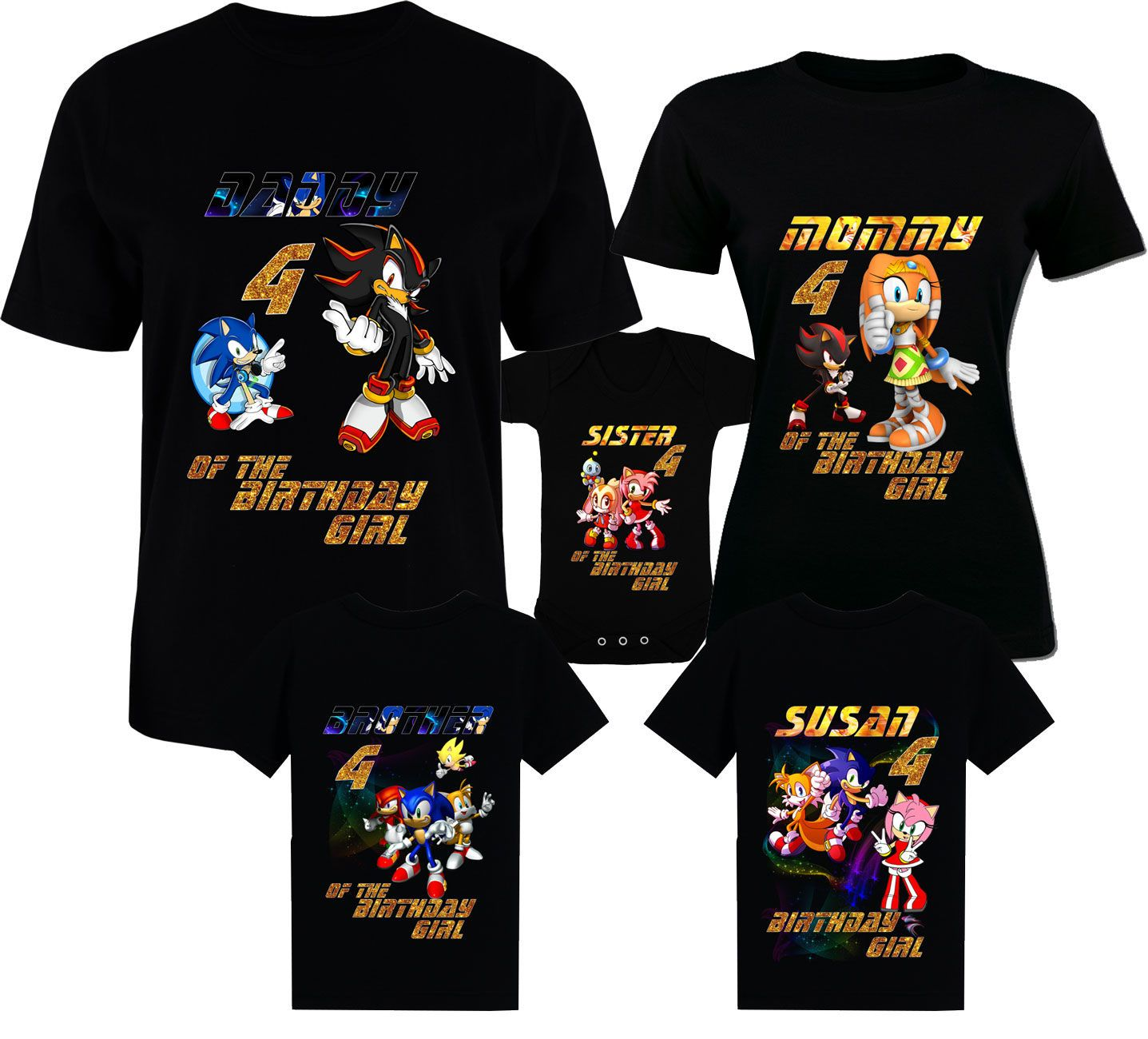 Birthday Sonic Shirts Sonic Family Shirts Sonic T Shirt Birthday T Shirts Sonic Amy Rose Tee The Hedgehog Tee Miles Sonic T Shirt Sonic And Amy Family Shirts