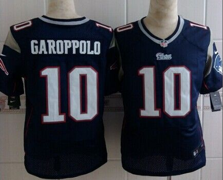 c30a5dbb3b6 ... Youth Stitched NFL New Elite Jersey Nike New England Patriots 10 Jimmy  Garoppolo Blue Elite Jersey ...