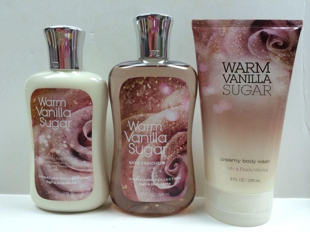 analise bath and body works warm vanilla sugar shower gel body wash body lotion new