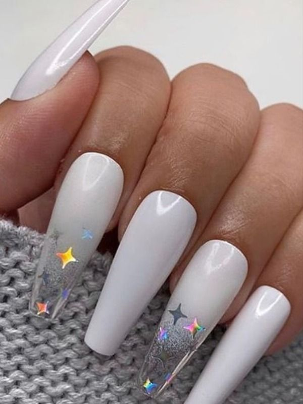 The Best Gray Nail Art Design Ideas Stylish Belles Gray Nails White Acrylic Nails Grey Acrylic Nails