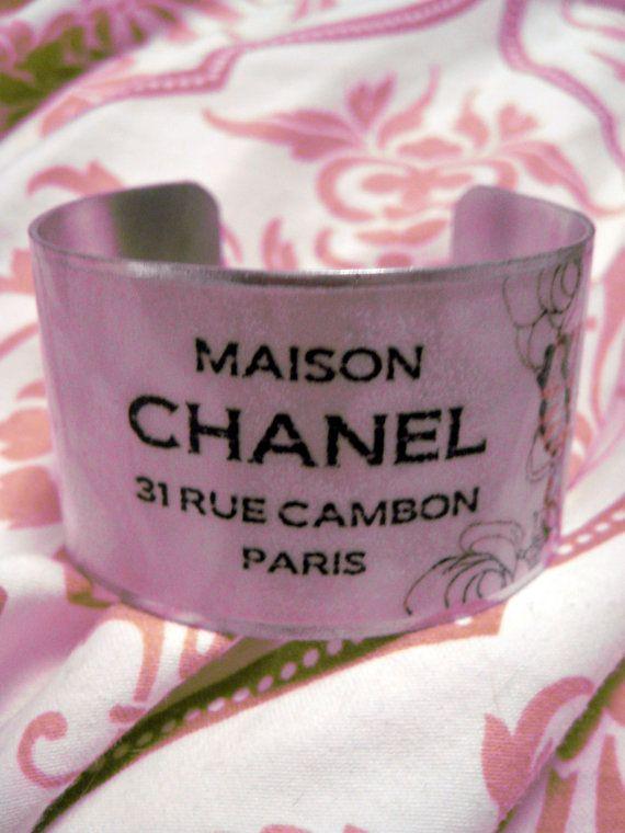 OOAK Statement Butterfly Cuff Bracelet  Maison Chanel  by kiki6462, $22.00