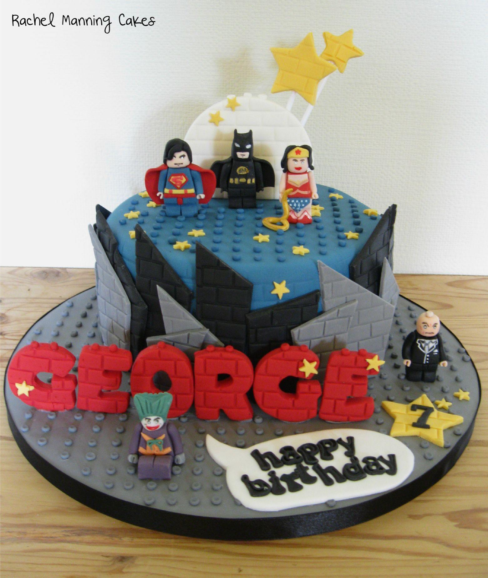 how to make a lego superhero cake
