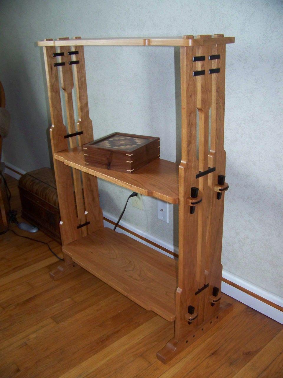 Greene and greene knock down shelf greene and greene for Greene and greene inspired furniture