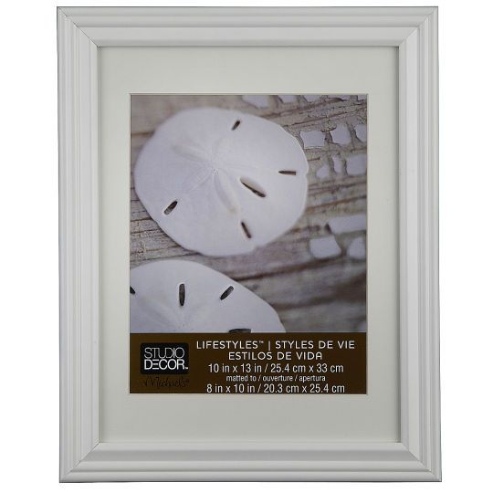 White Frame With Mat Lifestyles By Studio Decor Studio Decor Handcrafted Picture Frames Silver Tile