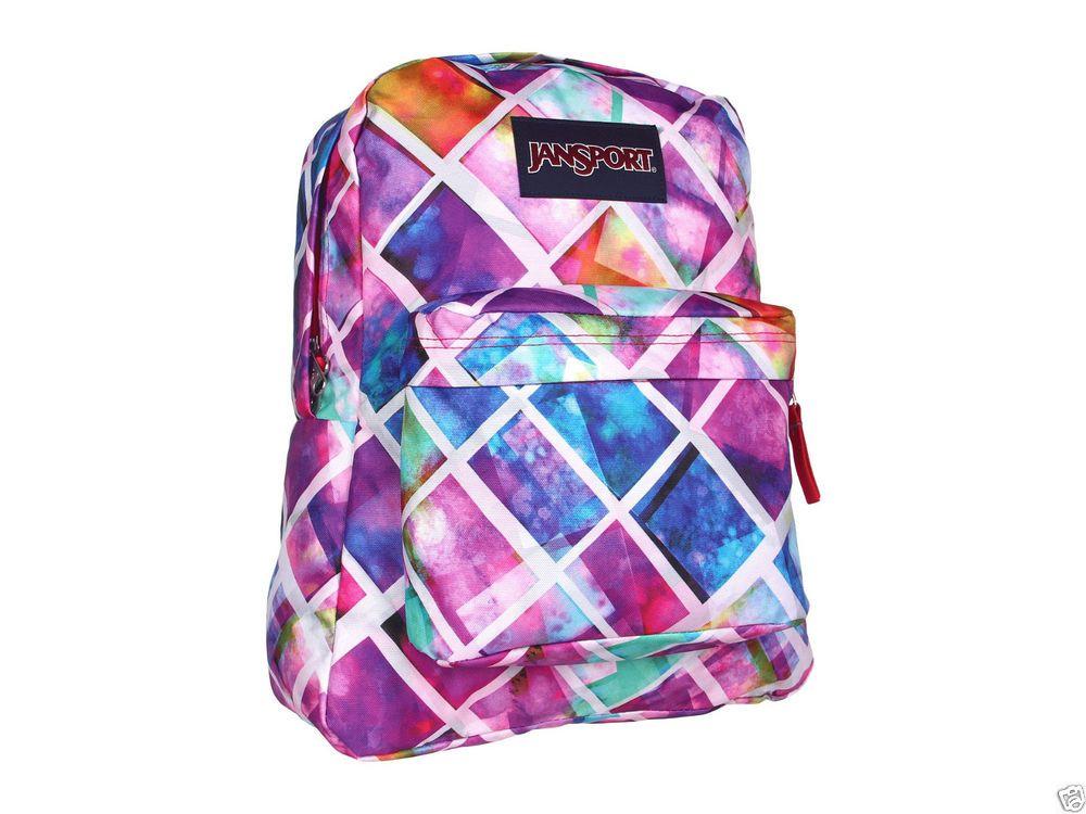 JanSport Superbreak Backpack Multi-Colored Free S&H #JanSport ...