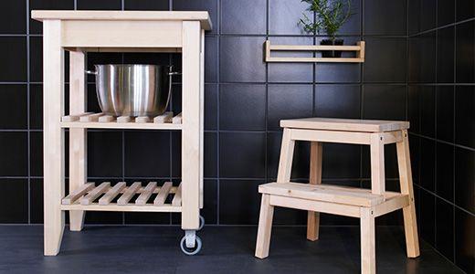 Roltafel In Keuken : BekvÄm kruk roltafel en wandhouder ideaal voor in de keuken