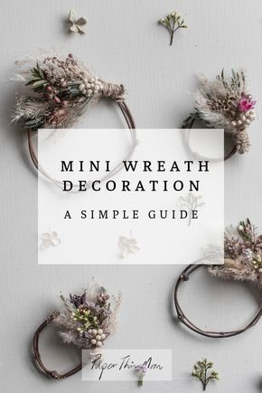 Click here for a simple guide to making miniature wreath decorations using grasses and fresh and dried flowers. #driedflowers #miniwreath #wreaths #giftwrapping #tabledecor #sustainablegiftwrap