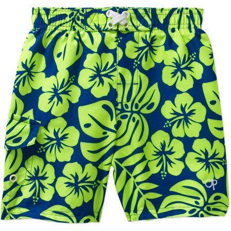 8a9a4e8c11c1d Op Toddler Boy Printed Swim Trunks Shorts, Size: 25 Months ...