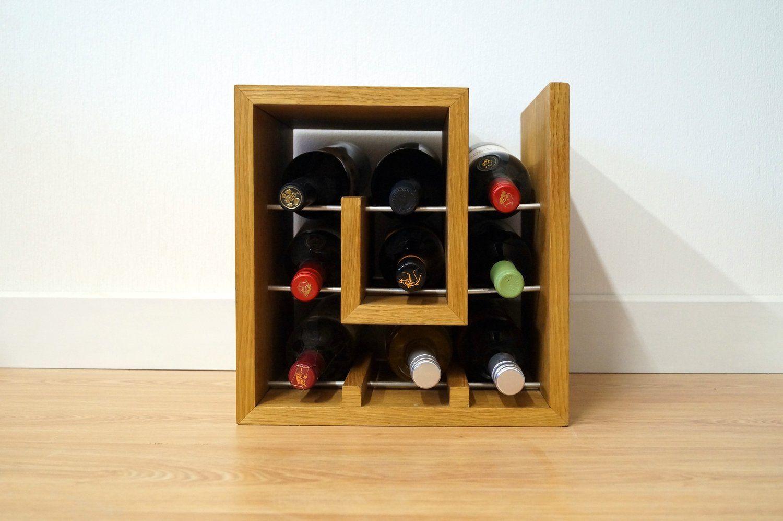 Square Spiral Wine Rack 9 Oak Wine Rack Wine Rack Contemporary