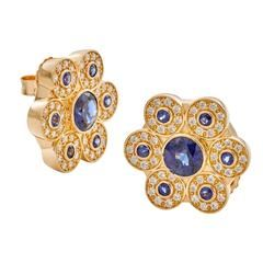 Ceylon Blue Sapphire Diamond Gold Earrings Pulseiras, Pulseiras, Brincos De  Ouro, Joias, fcb80ae8ac