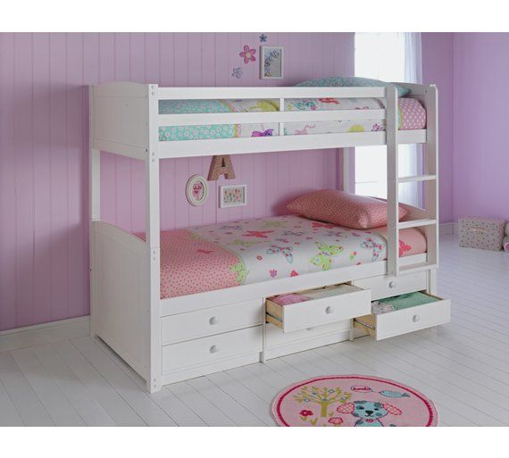 cheaper be36a 87f2f Home Leigh White Detachable Single Bunk Bed Frame | bed in ...