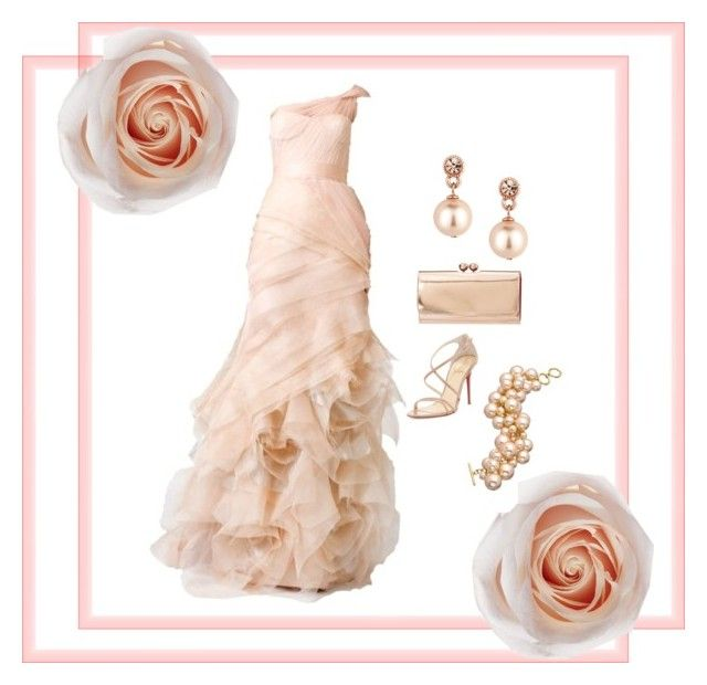 Blushing beauty by bellecollective on Polyvore featuring polyvore, fashion, style, Christian Louboutin, Ted Baker, Carolee, Jon Richard, ASOS and clothing