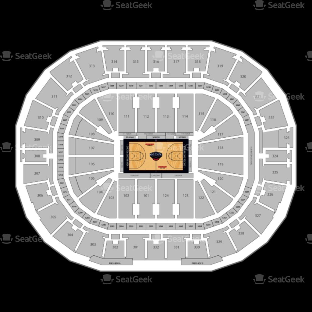New Orleans Pelicans Seating Chart Map Seatgeek Intended For Pelicans Seating Chart Mbpelicansseatingchart Pelicansgameseatingchart Seating Charts Pelicans Game Chart