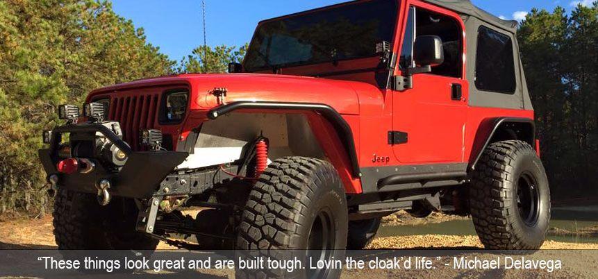 Jeep Yj With Metalcloak Fenders Jeep Yj Jeep Monster Trucks
